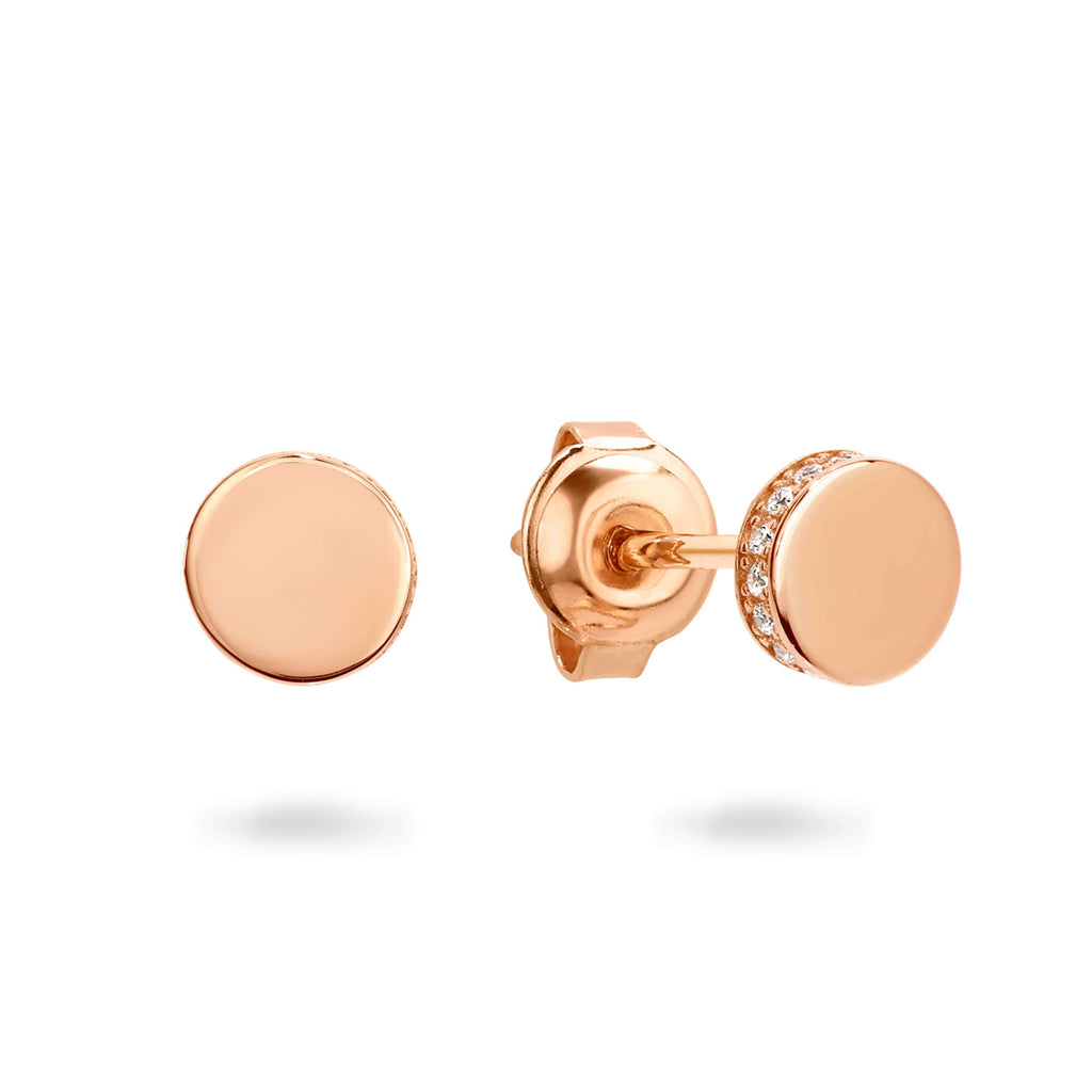 MICRO ROSE GOLD EARRING Bevilles Jewellers