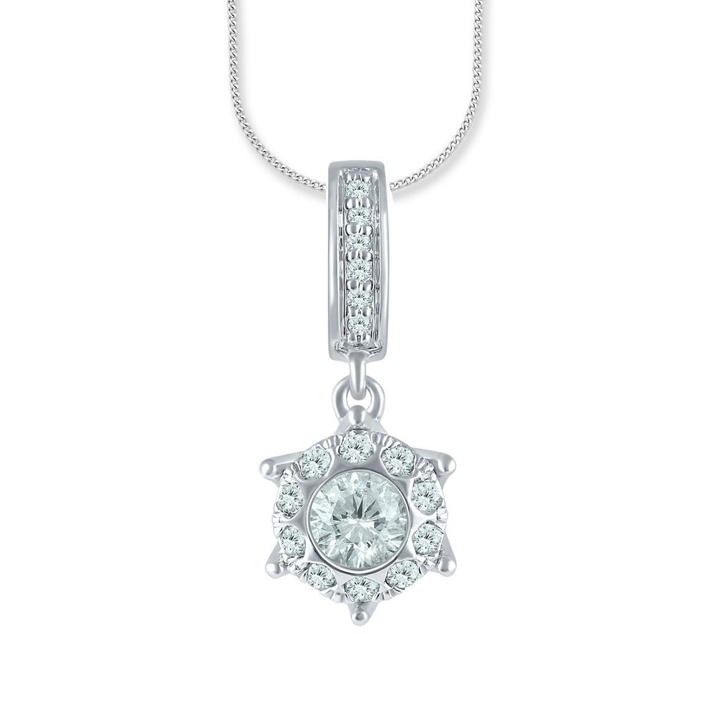 9ct White Gold 0.33ct Diamond Necklace