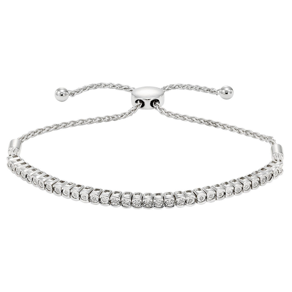 Brilliant Tennis Bracelet with 1/4ct of Diamonds in 10ct White Gold