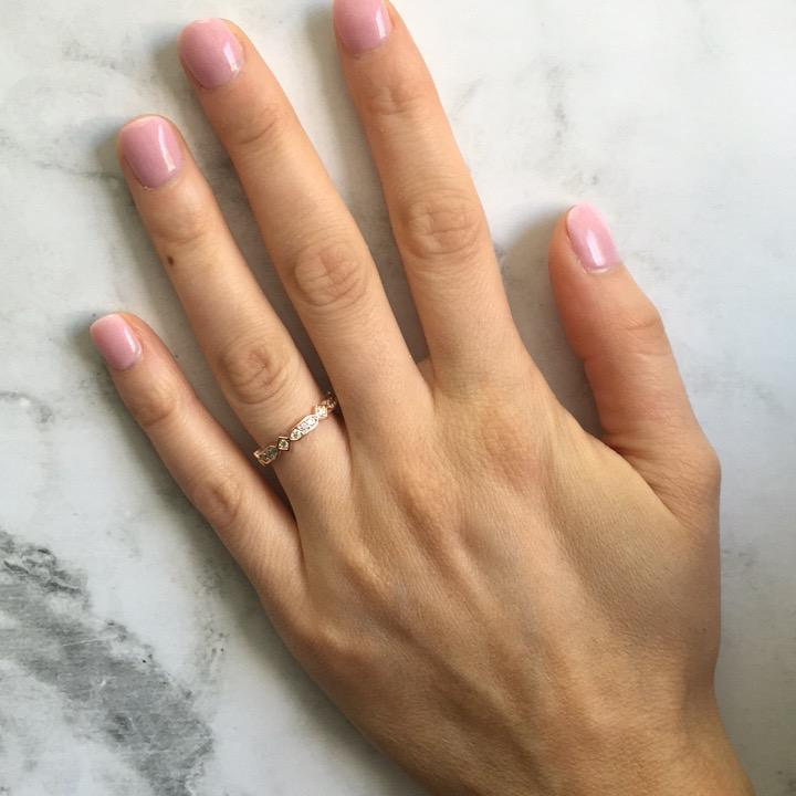 GEORGINI ZUMA ROSE GOLD RING Bevilles Jewellers