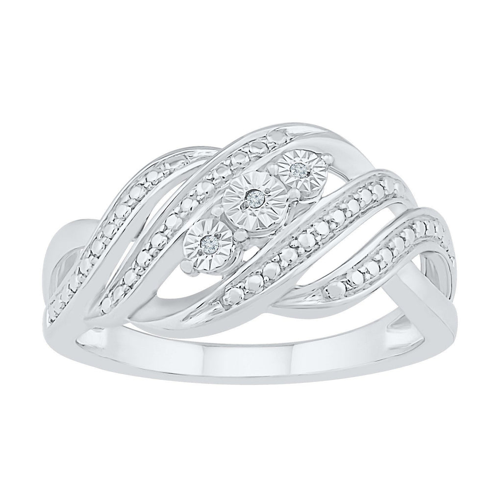 Sterling Silver Brilliant Illusion Miracle Halo Ring