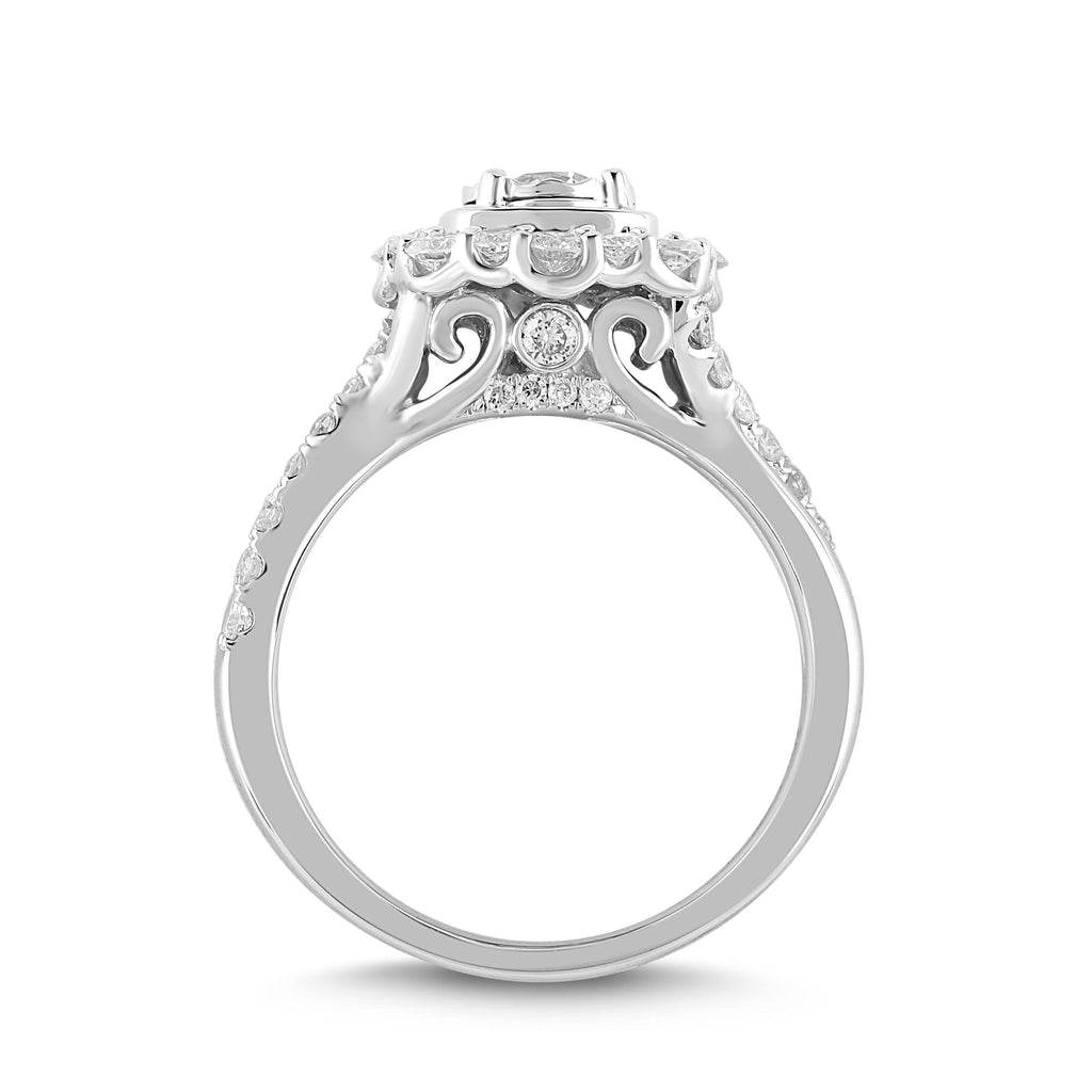 LOVE by Michelle Beville Solitaire Ring with 1.10ct of Diamonds in 18ct White Gold Rings Bevilles