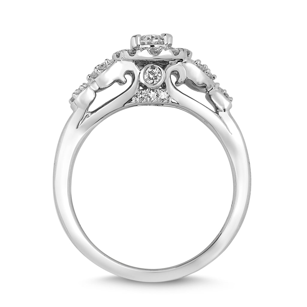 Love by Michelle Beville Oval Solitaire Ring with 0.65ct of Diamonds in 18ct White Gold Rings Bevilles