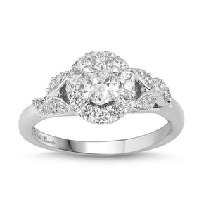 Love by Michelle Beville Oval Solitaire Ring with 0.65ct of Diamonds in 18ct White Gold