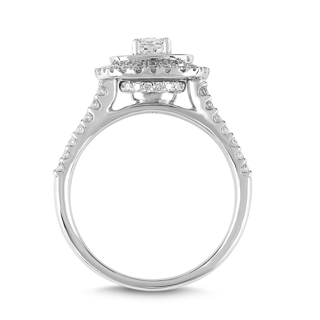 Love by Michelle Beville Double Halo Ring with 1.00ct of Diamonds in 18ct White Gold