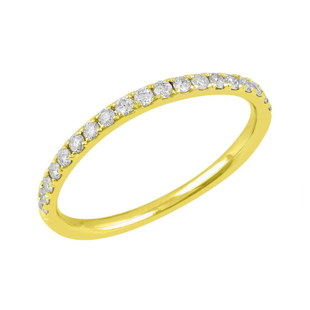 Love by Michelle Beville Eternity Ring with 1/5ct of Diamonds in 18ct Yellow Gold