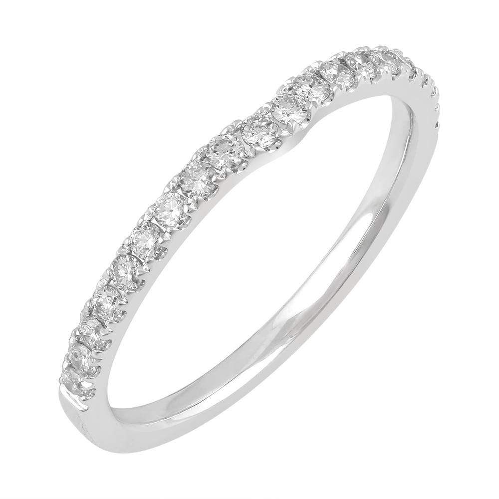 Love by Michelle Beville Eternity Ring with 1/4ct of Diamonds in 18ct White Gold Rings Bevilles