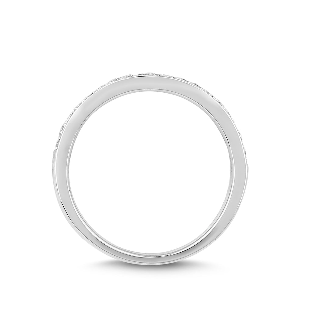 Love by Michelle Beville Grain Eternity Ring with 0.15ct of Diamonds in 18ct White Gold Rings Bevilles
