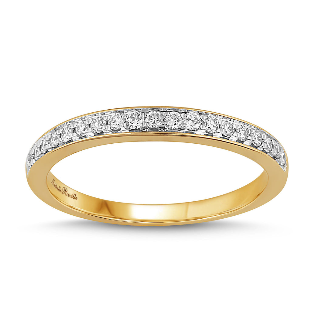Love by Michelle Beville Eternity Ring with 0.15ct of Diamonds in 18ct Yellow Gold Rings Bevilles