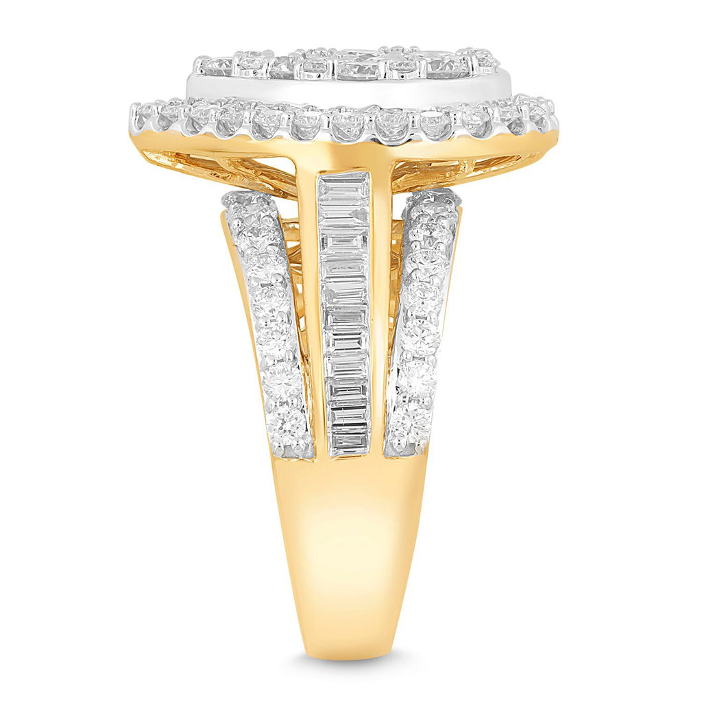 Meera Pear Halo Ring with 2.50ct of Laboratory Grown Diamonds in 9ct Yellow Gold
