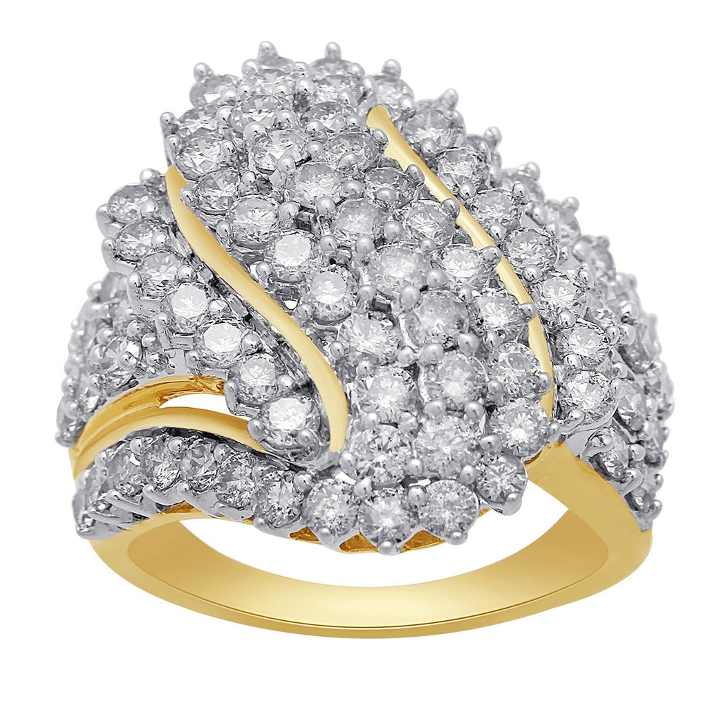 Meera Cluster Ring with 3.00ct of Laboratory Grown Diamonds in 9ct Yellow Gold Rings Bevilles