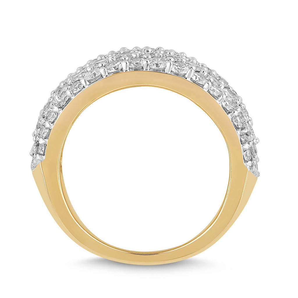 Meera Pave Ring with 4.00ct of Laboratory Grown Diamonds in 9ct Yellow Gold Rings Bevilles
