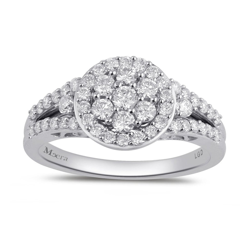 Meera Composite Halo Ring with 0.75ct of Laboratory Grown Diamonds in 9ct White Gold Rings Bevilles