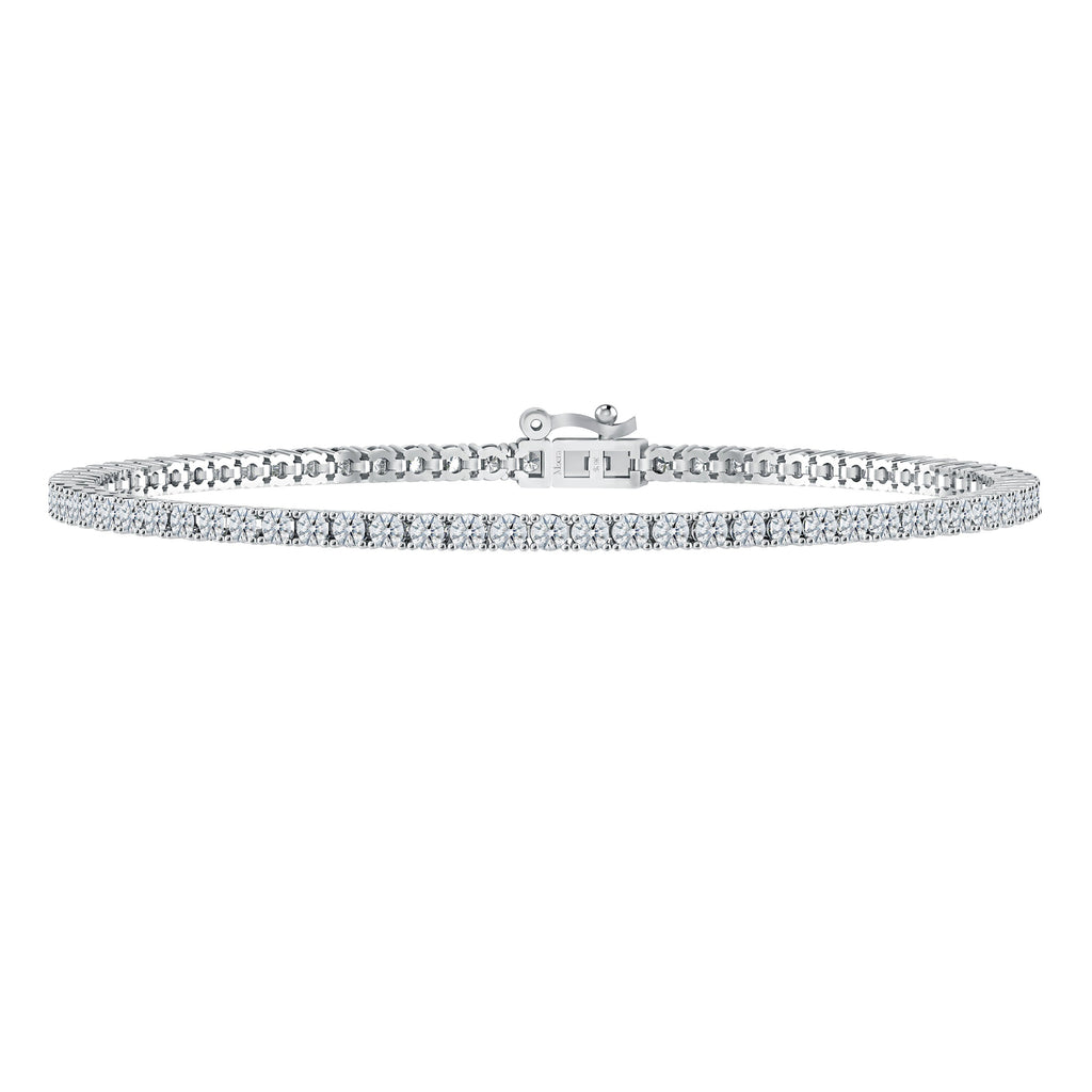 Meera Tennis Bracelet with 2.00ct of Laboratory Grown Diamonds in 9ct White Gold Bracelets Bevilles