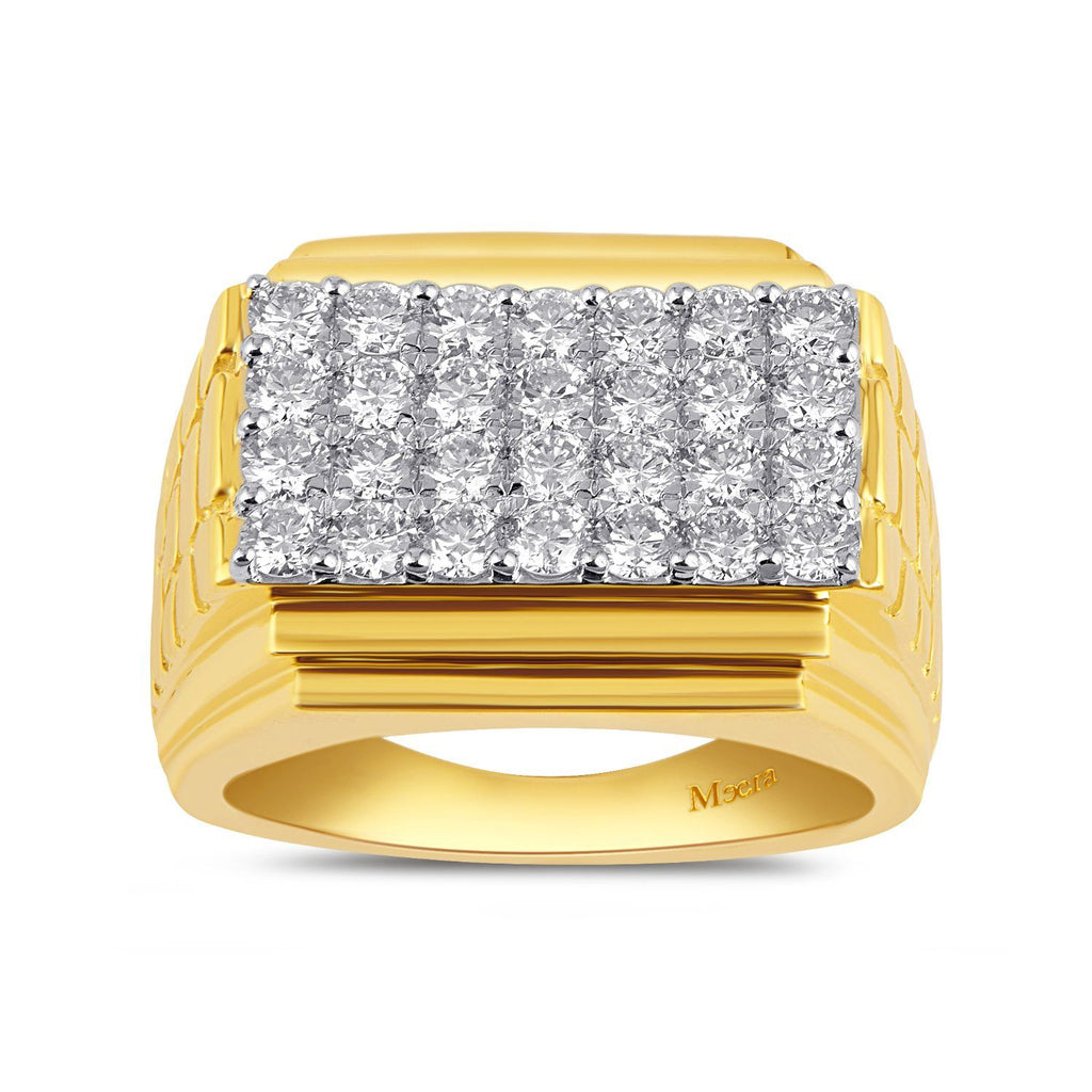 Meera Men's Ring with 2.00ct of Laboratory Grown Diamonds in 9ct Yellow Gold Rings Bevilles