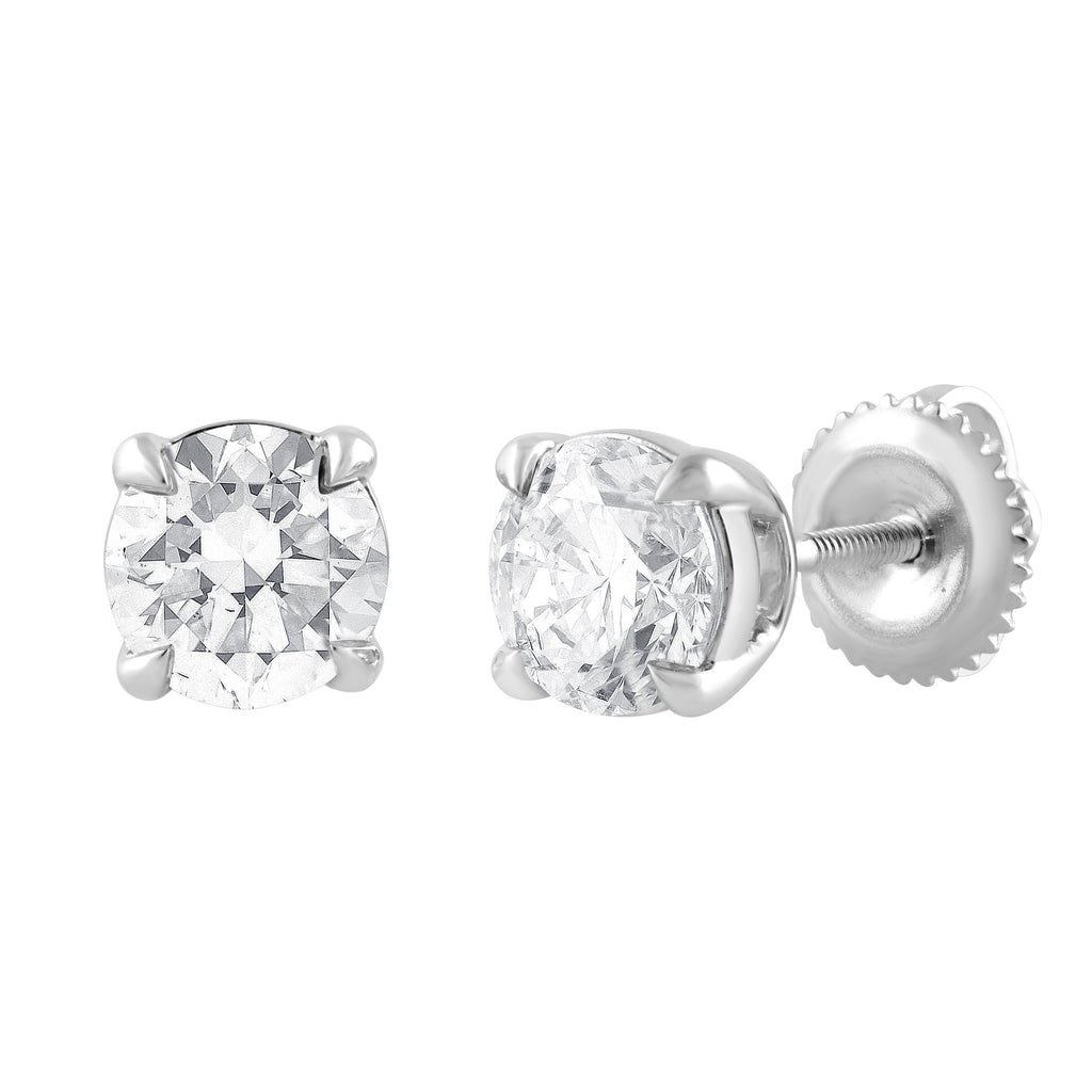Meera Brilliant Stud Earrings with 1.50ct of Laboratory Grown Diamonds in 18ct White Gold Earrings Bevilles