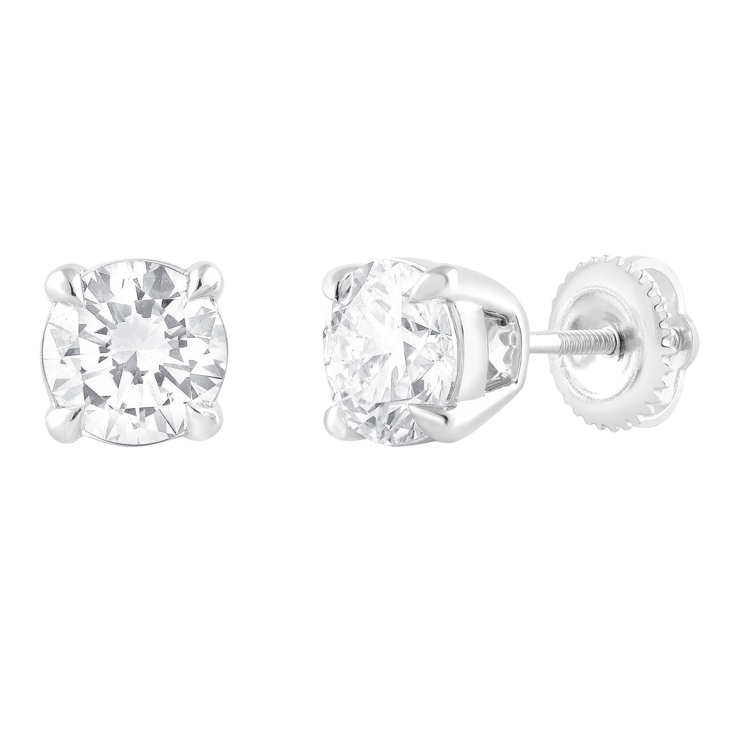 Meera Brilliant Stud Earrings with 2.00ct of Laboratory Grown Diamonds in 18ct White Gold Earrings Bevilles