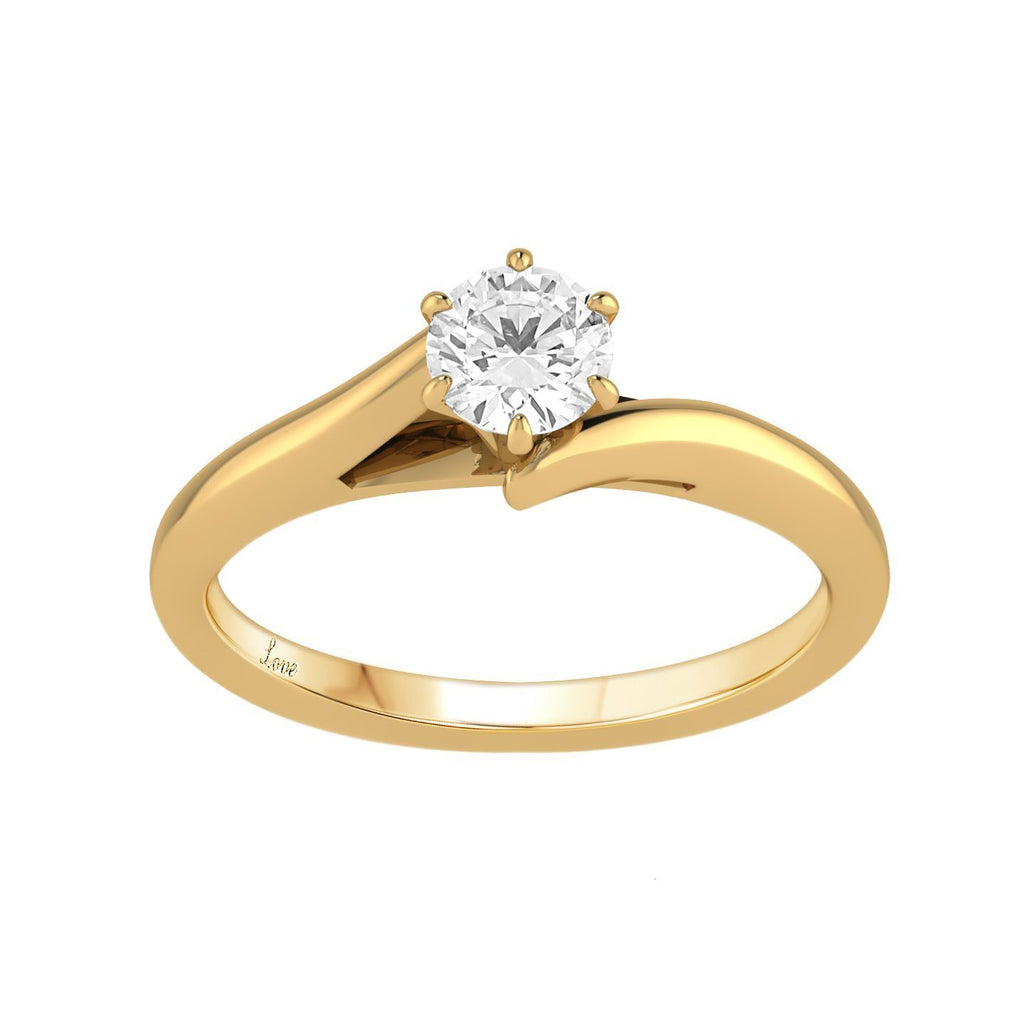 Facets of Love Solitaire Ring with 1/2ct Diamond in 18ct Yellow Gold Rings Bevilles