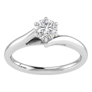 Facets of Love Solitaire Ring with 0.60ct Diamond in 18ct White Gold