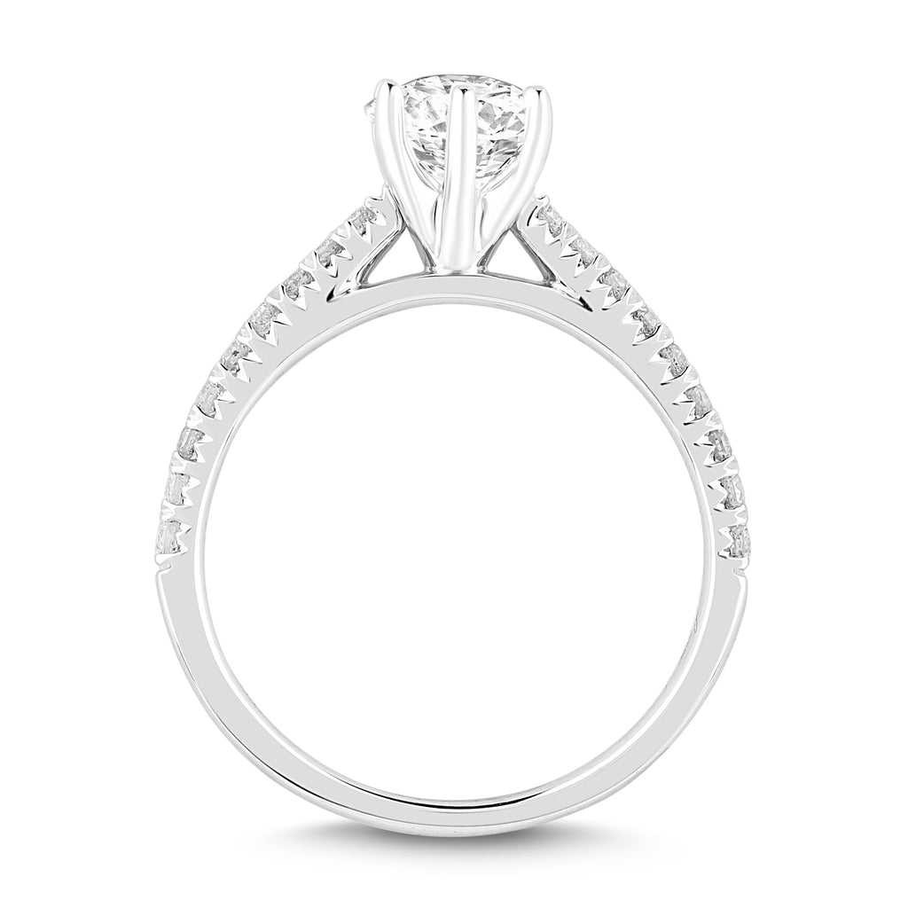 Facets of Love Solitaire Brilliant Ring with 3/4ct of Diamonds in 18ct White Gold Rings Bevilles