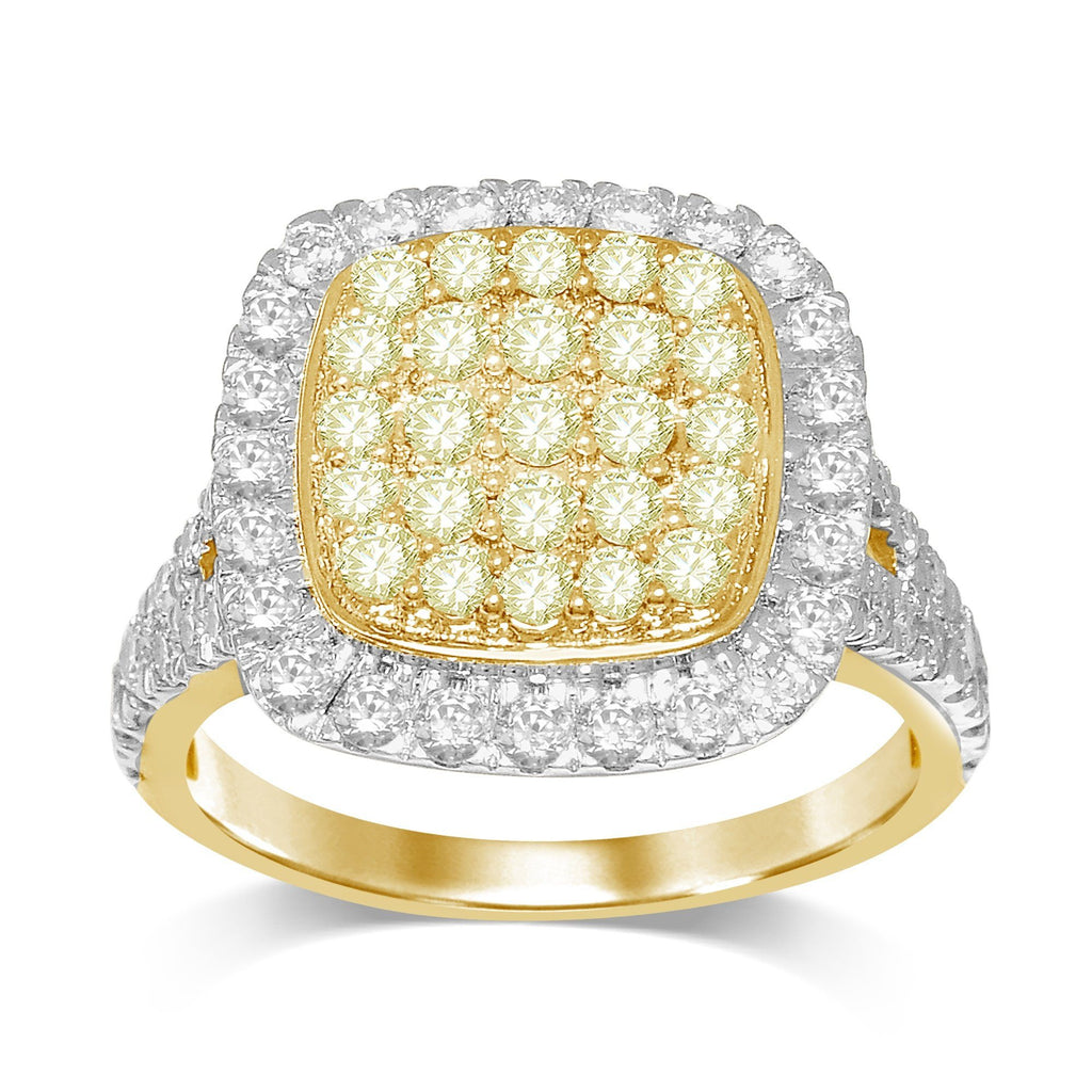 Composite Ring with 1.75ct of Yellow & White Diamonds in 9ct Yellow Gold Rings Bevilles