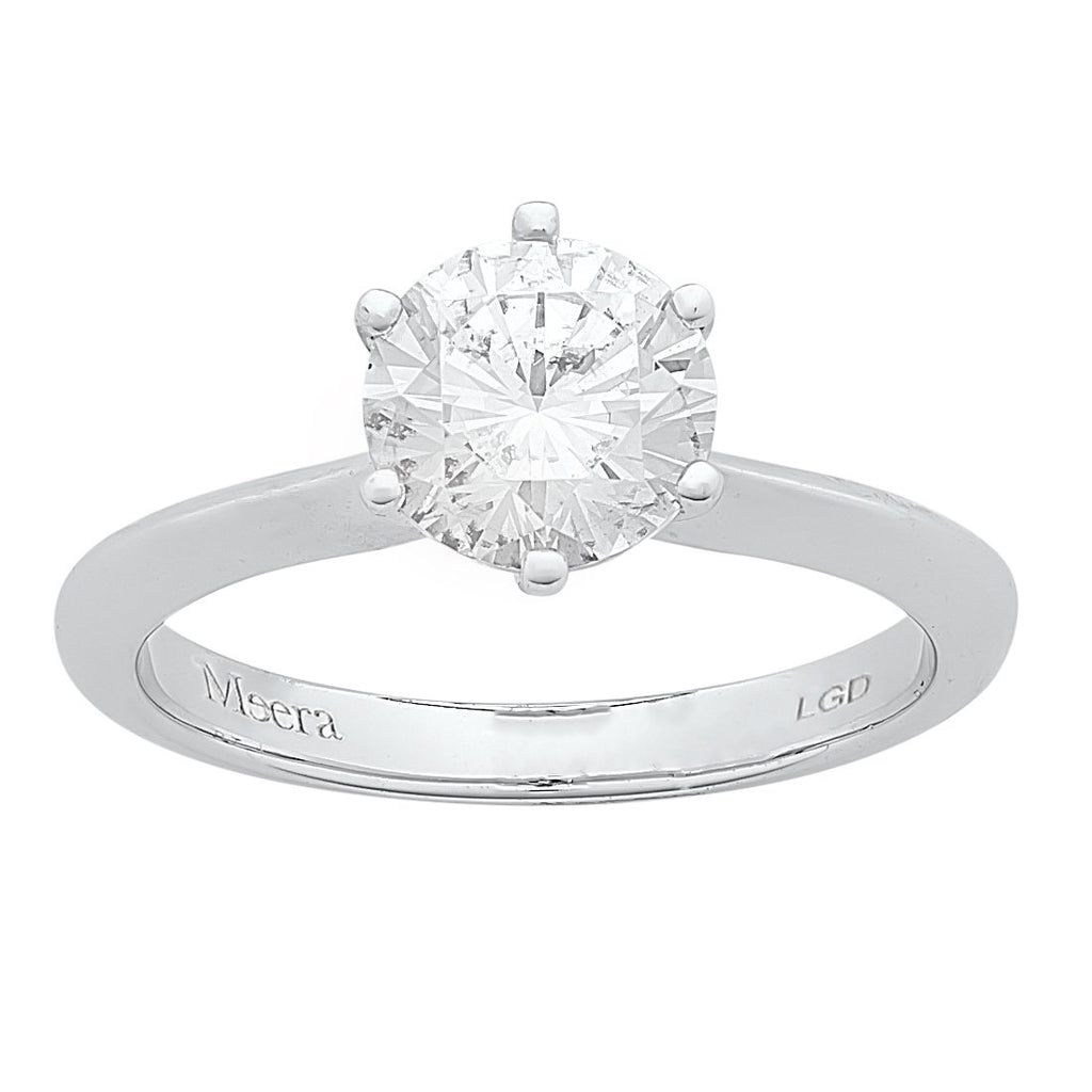 Meera Solitaire Ring 1.00ct Laboratory Grown Diamond in 18ct White Gold Rings Bevilles