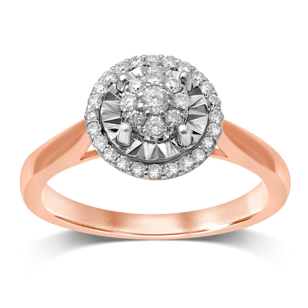 Limited Edition Miracle Ring with 1/4ct of Diamonds in 9ct Rose Gold Rings Bevilles