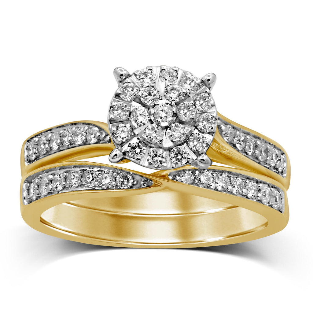 Martina Brilliant Solitaire Look Ring with 1/2ct of Diamonds in 9ct Yellow Gold Rings Bevilles
