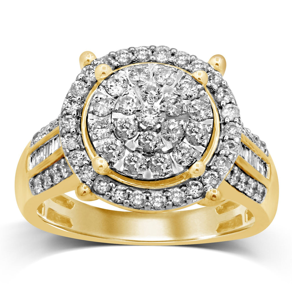 Martina Brilliant Illusion Solitaire Look Ring with 1.00ct of Diamonds in 9ct Yellow Gold Rings Bevilles
