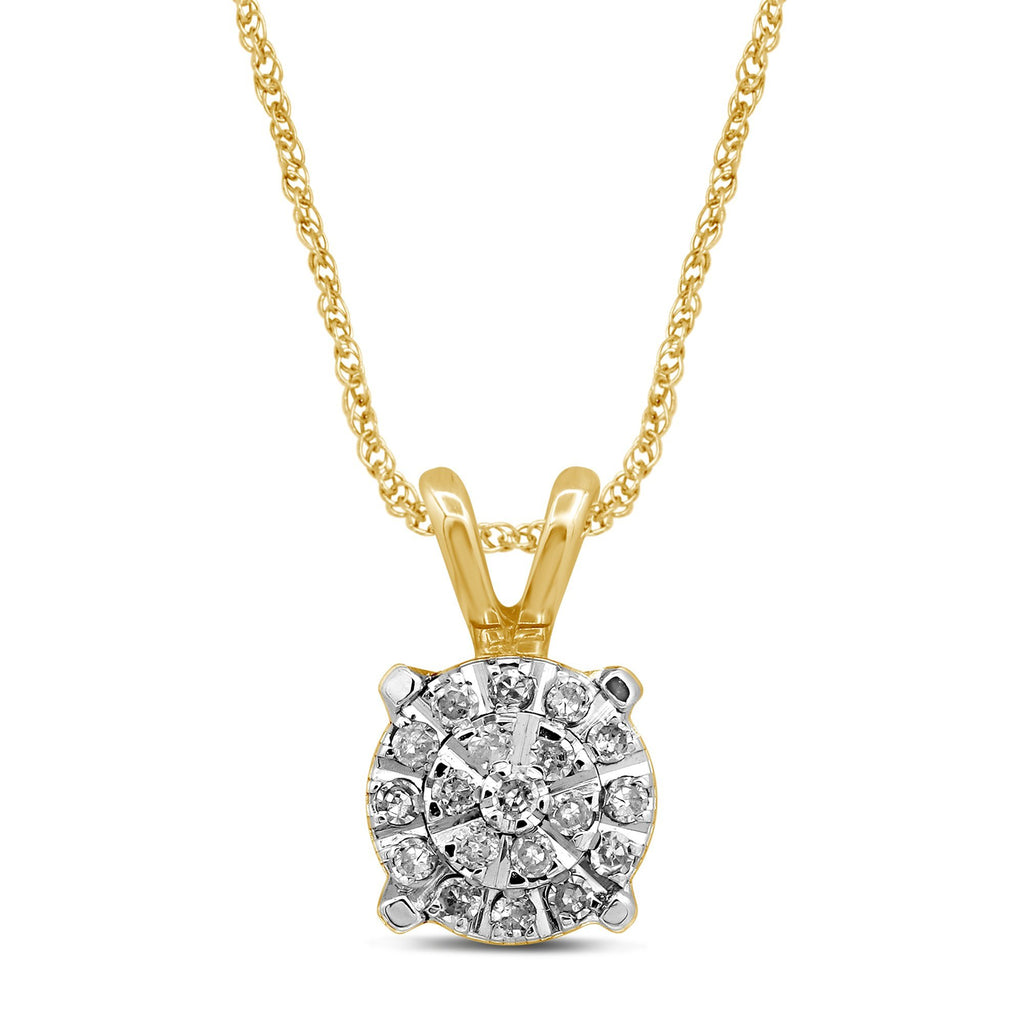 Martina Necklace with 0.10ct of Diamonds in 9ct Yellow Gold Necklaces Bevilles