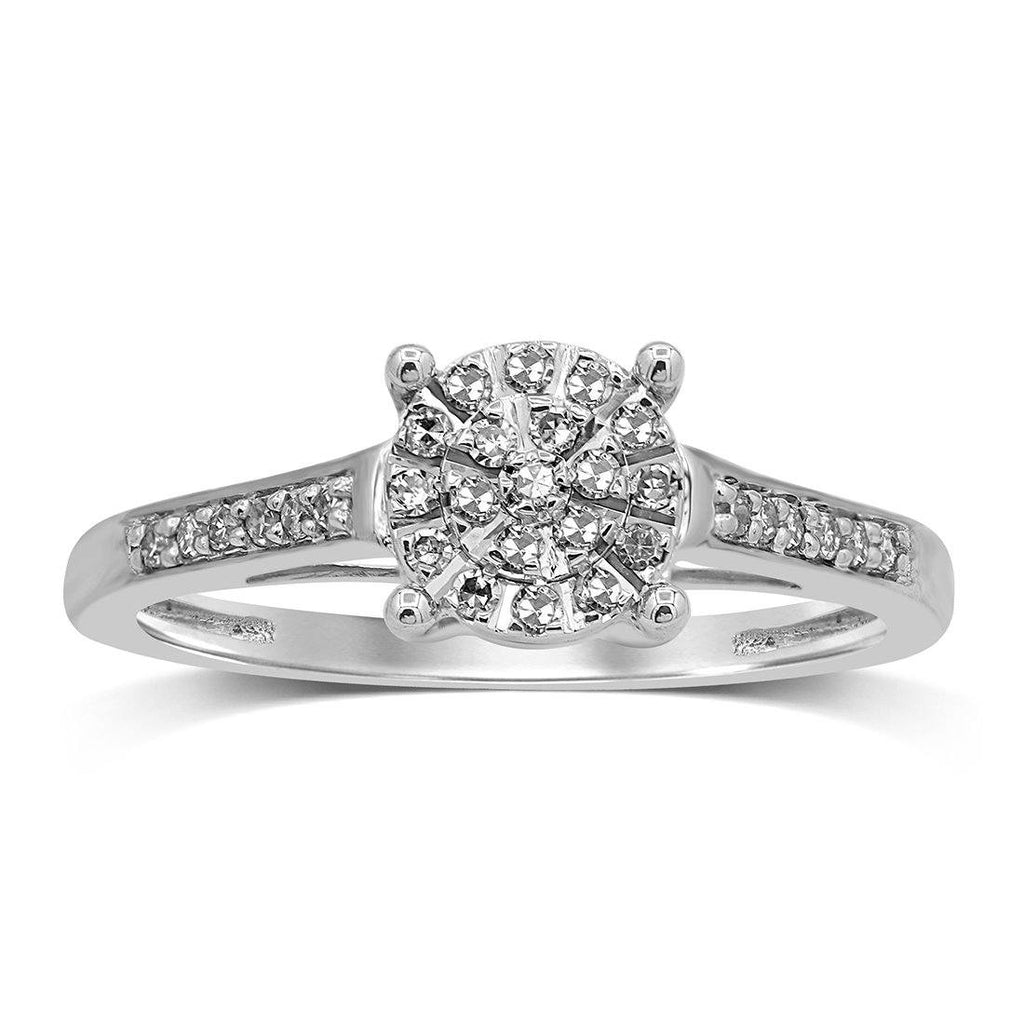 Martina Ring with 0.15ct of Diamonds in 9ct White Gold