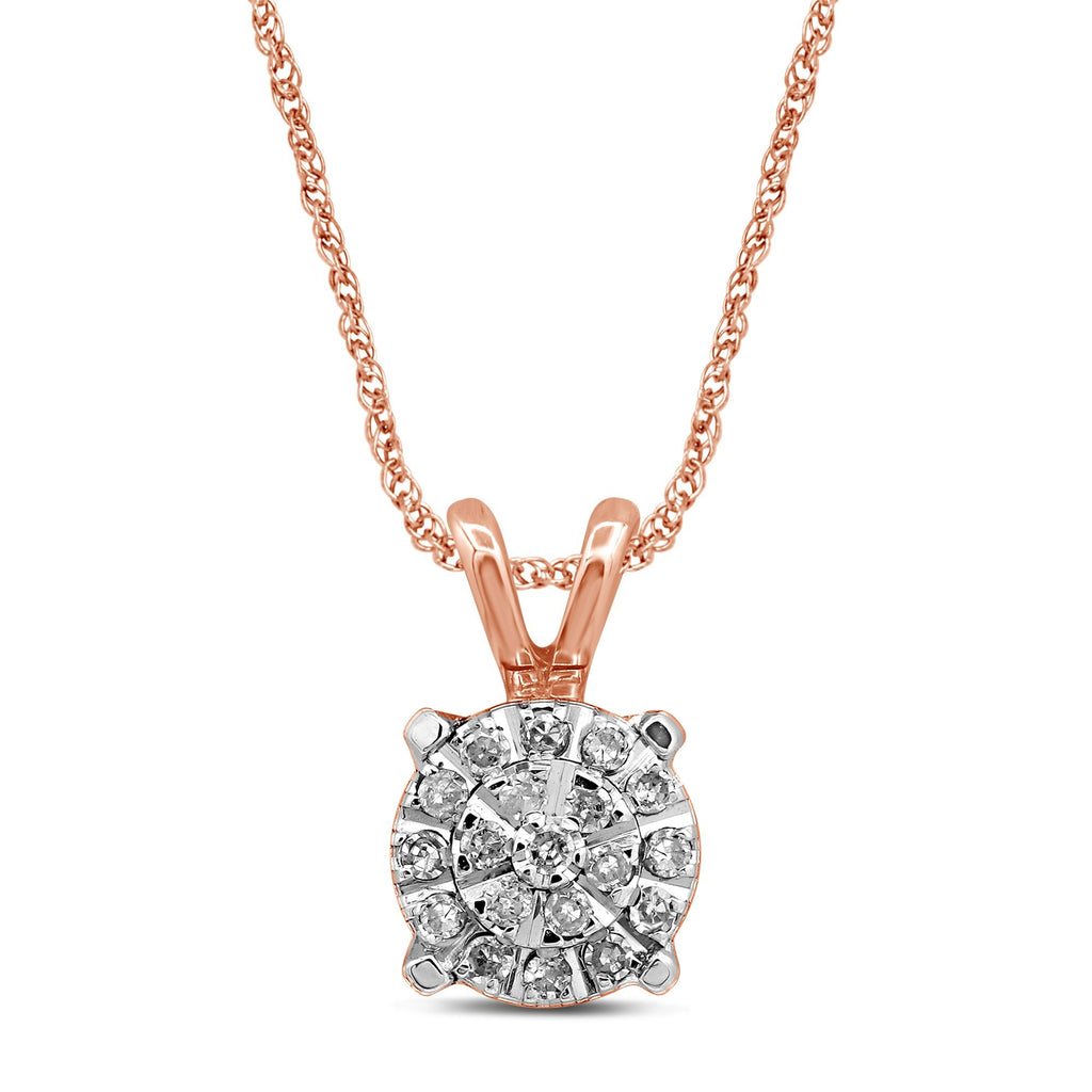 Martina Necklace with 0.10ct of Diamonds in 9ct Rose Gold Necklaces Bevilles