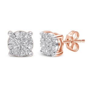 Martina Diamond Earrings with 0.15ct of Diamonds in 9ct Rose Gold