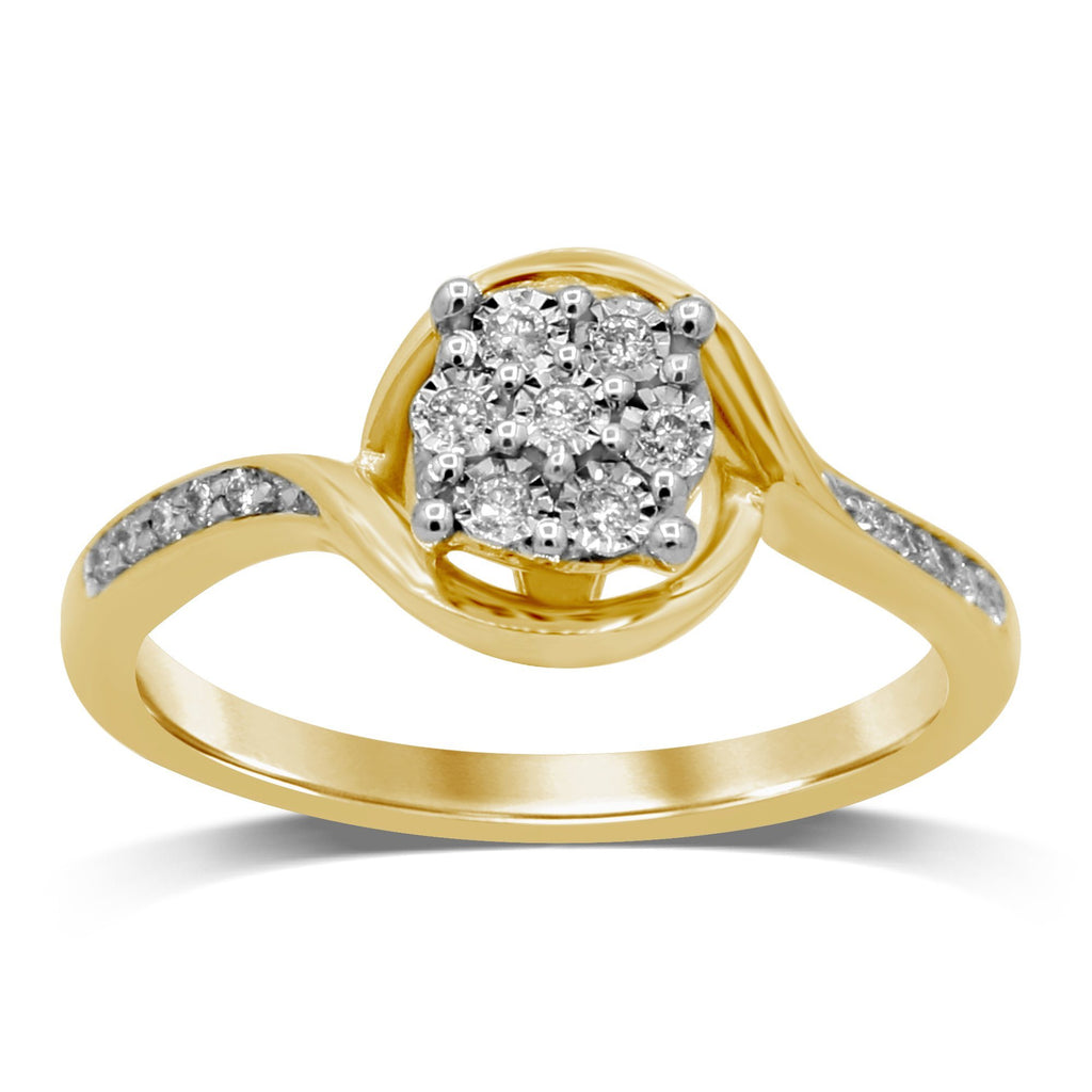 Brilliant Illusion Diamond Set Ring in 9ct Yellow Gold Rings Bevilles