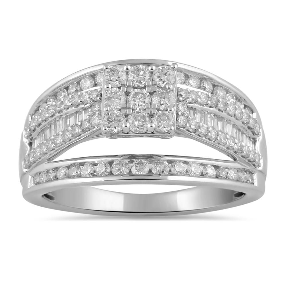 Brilliant Channel Ring with 1.00ct of Diamonds in 9ct White Gold Rings Bevilles