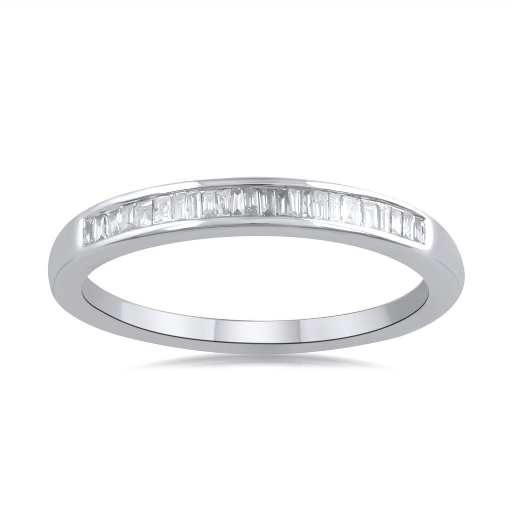 Stackable Eternity Ring with 0.15ct of Diamonds in 9ct White Gold Rings Bevilles