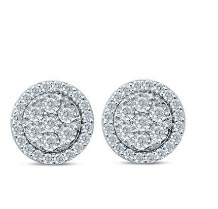 Brilliant Claw Diamond Studs with 1.00ct of Diamonds in Sterling Silver Bevilles Jewellers
