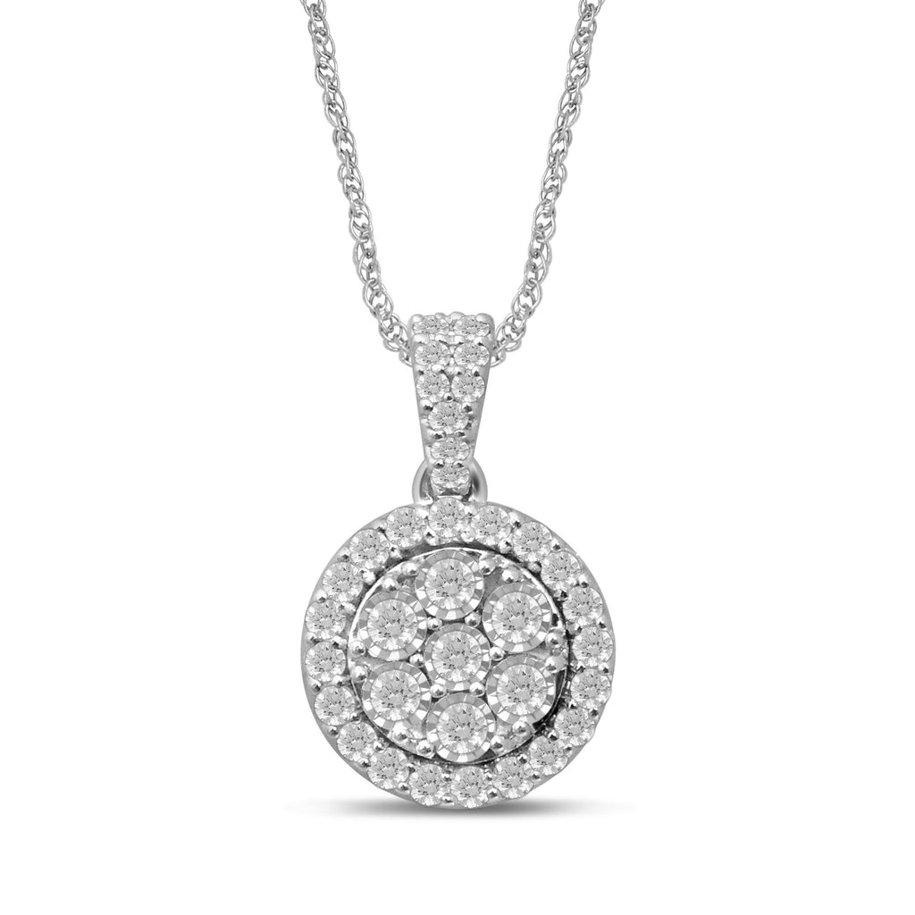 Brilliant Miracle Necklace with 1.00ct of Diamonds in Sterling Silver Bevilles Jewellers