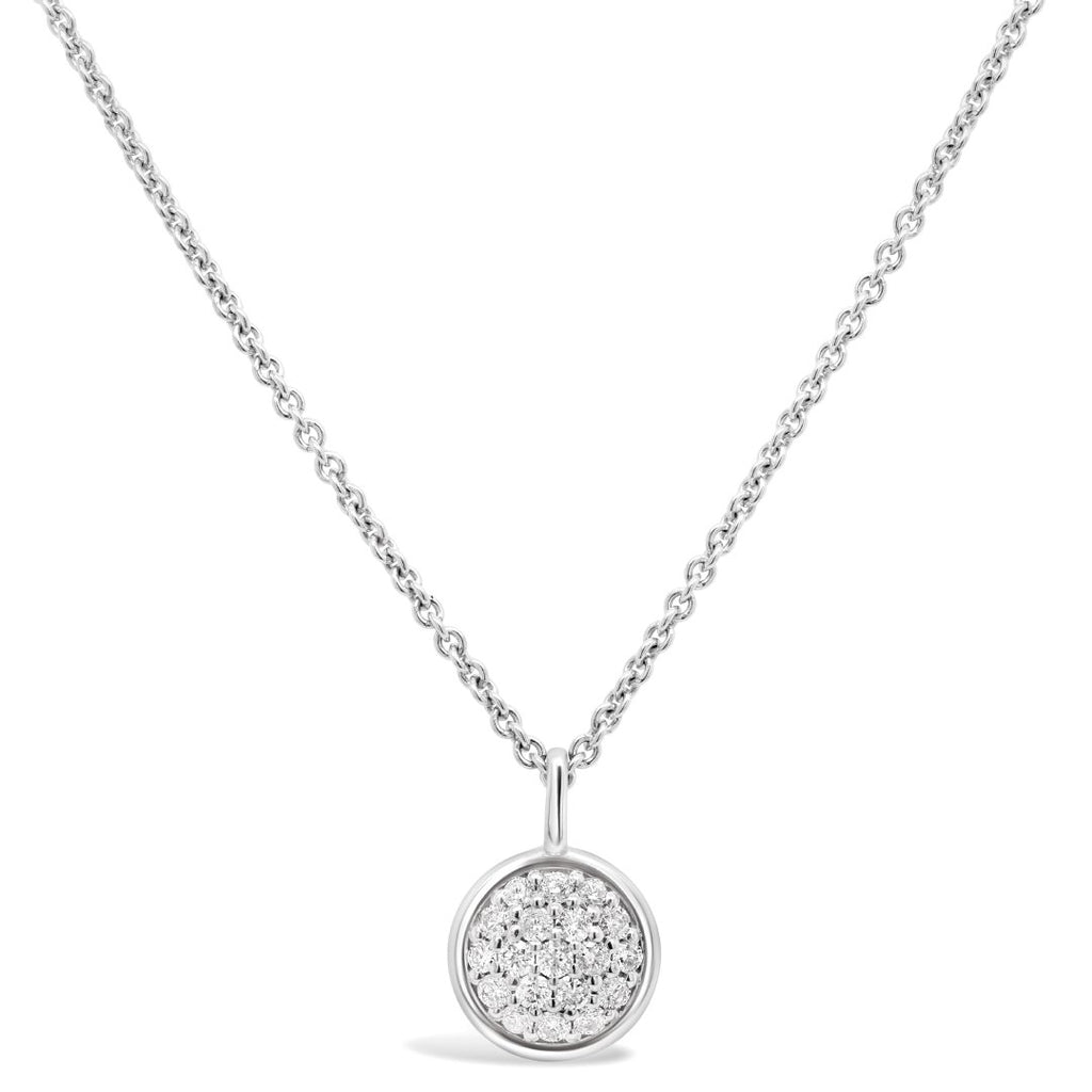 Diamond Bezel Necklace with 0.25ct of Diamonds in Sterling Silver Necklaces Bevilles
