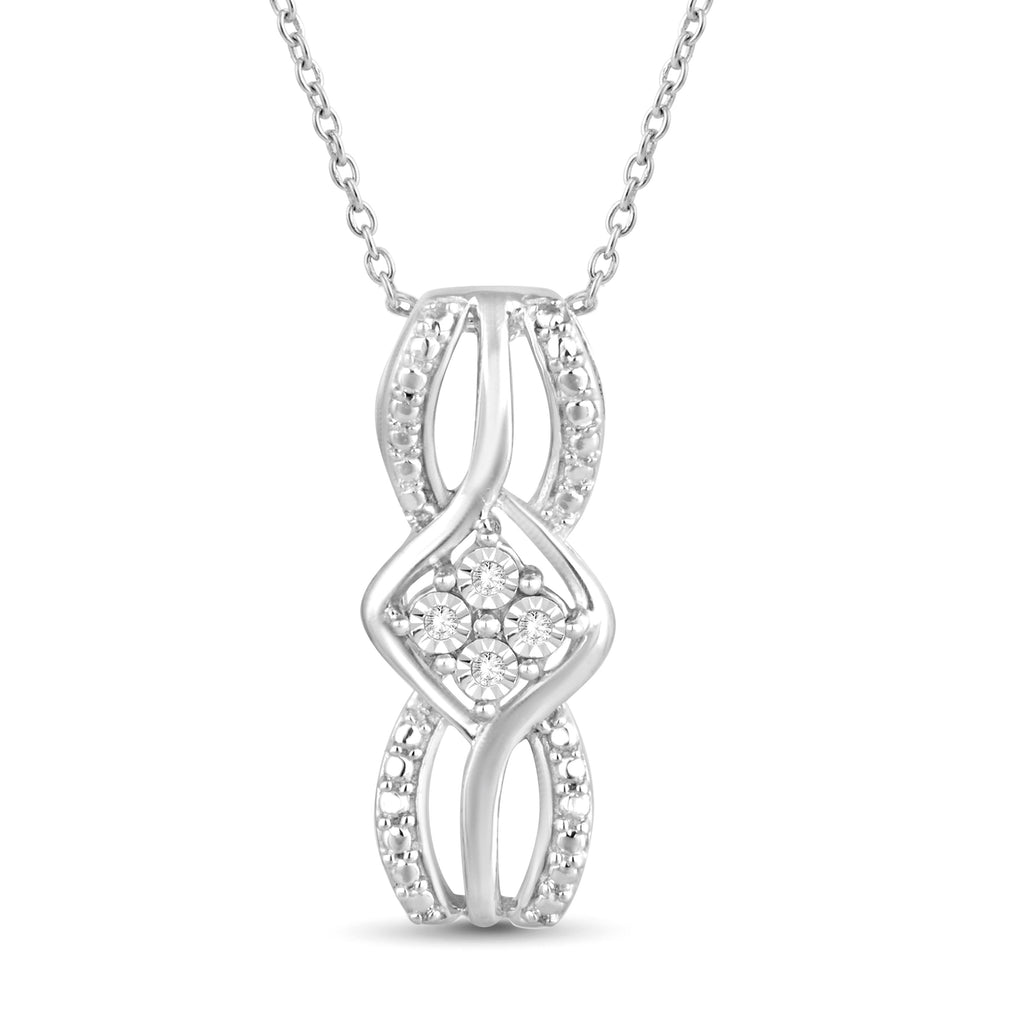 Diamond Fancy Necklace in Sterling Silver Necklaces Bevilles