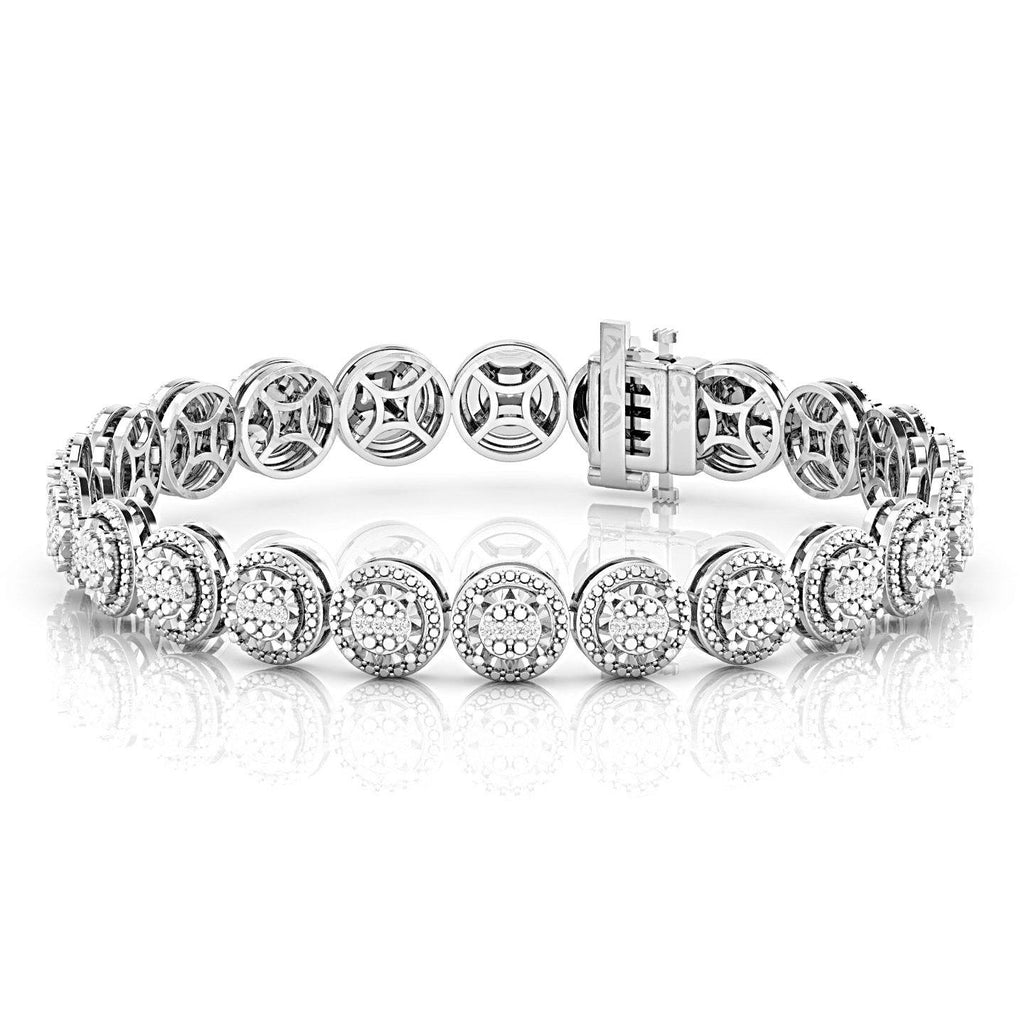 Tennis Bracelet with 1/2ct of Diamonds in Sterling Silver