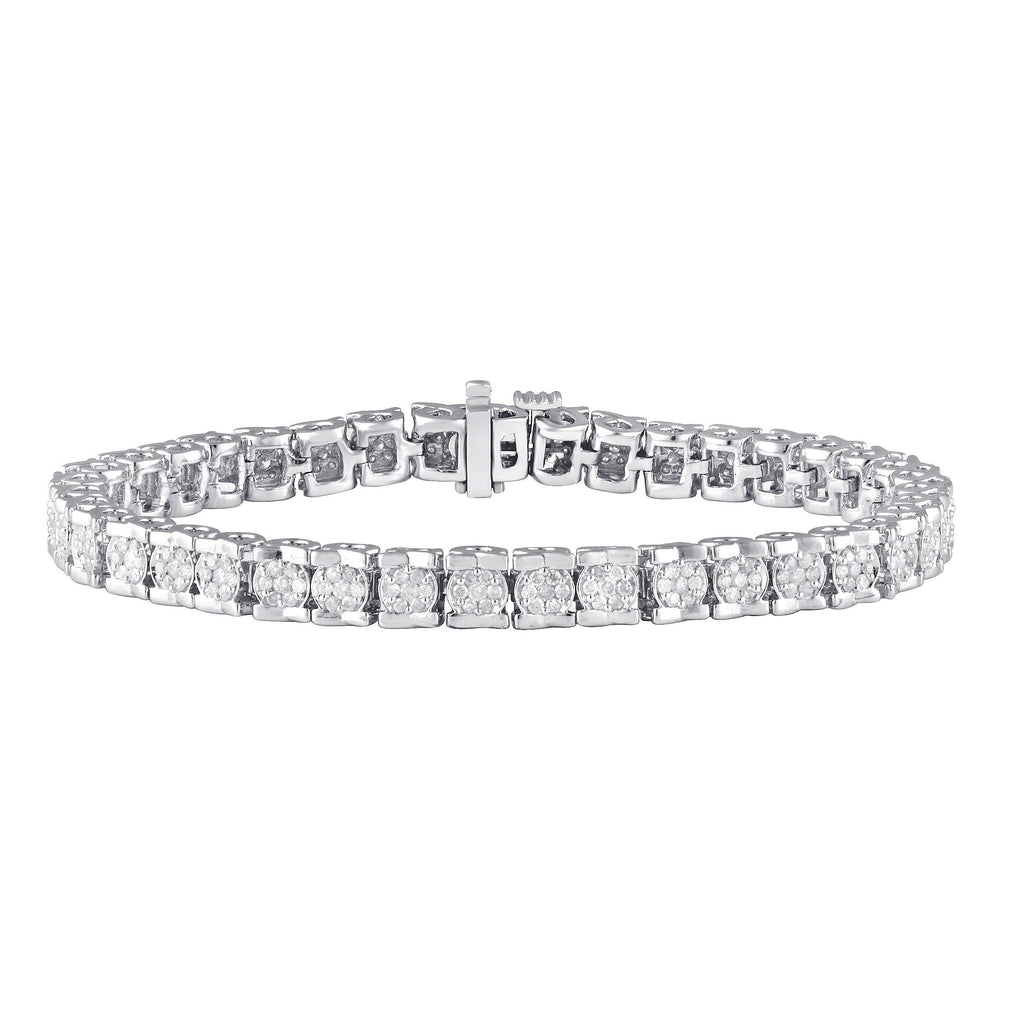 Tennis Bracelet with 2.00ct of Diamonds in Sterling Silver Bracelets Bevilles