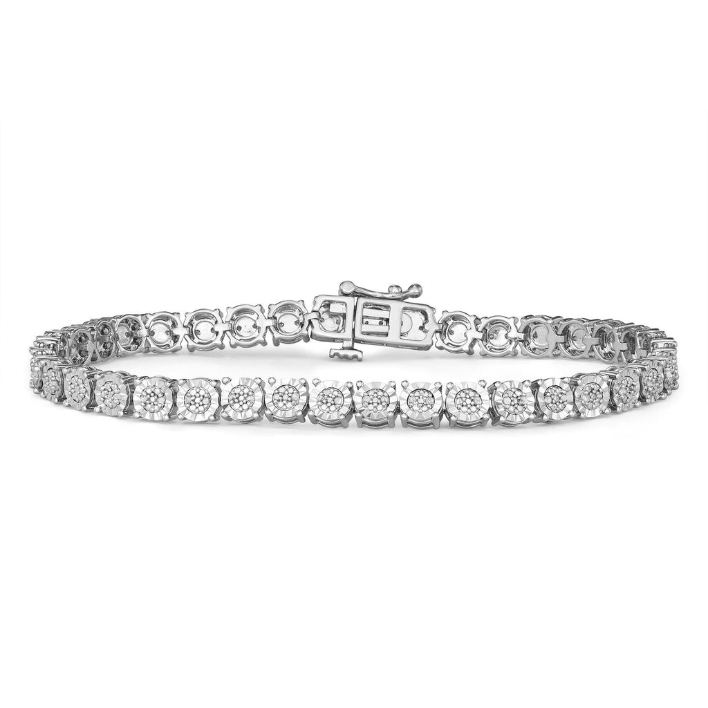 Tennis Bracelet with 1/2ct of Diamonds in Sterling Silver Bracelets Bevilles