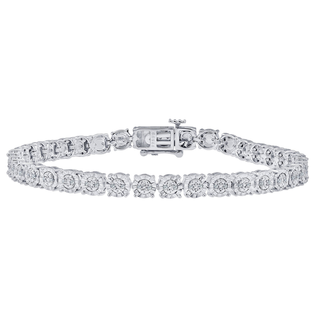 Miracle Tennis Bracelet with 1/4ct of Diamonds in Sterling Silver Bracelets Bevilles