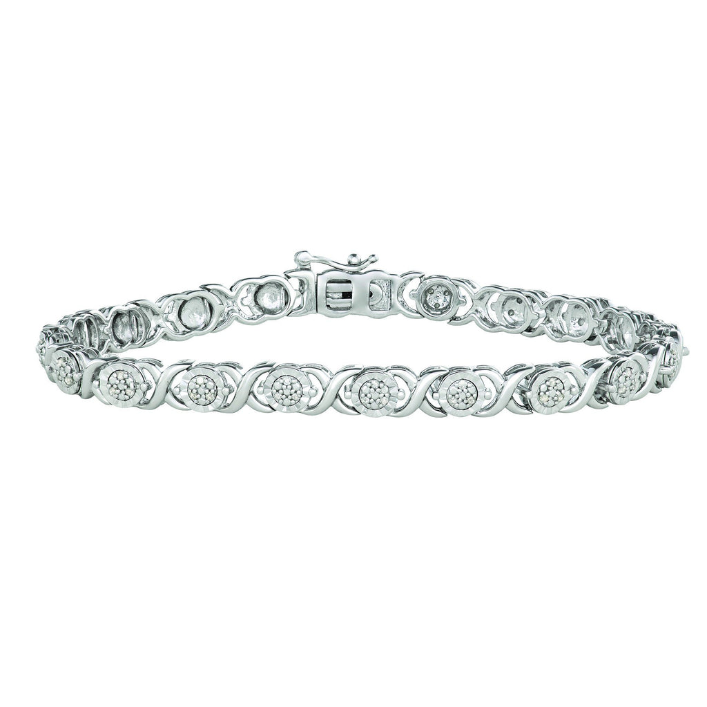 Brilliant Miracle Bracelet with 1/4ct Diamonds in Sterling Silver Bracelet Bevilles