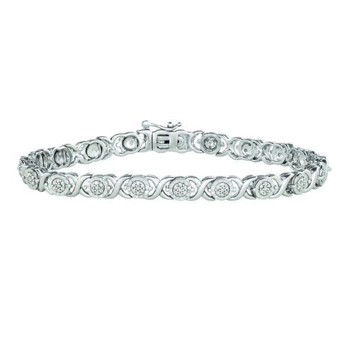 Brilliant Miracle Bracelet with 1/4ct Diamonds in Sterling Silver