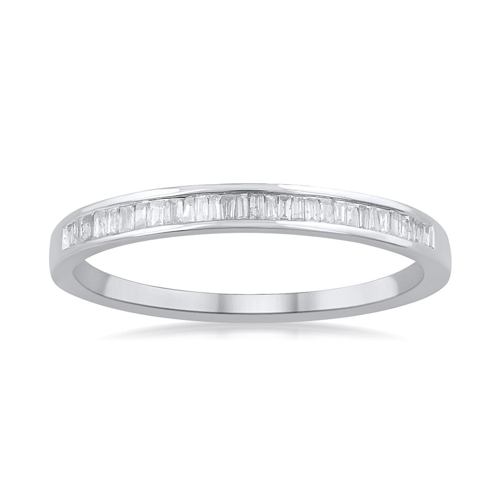 Stackable Eternity Ring with 0.15ct of Diamonds in Sterling Silver Rings Bevilles