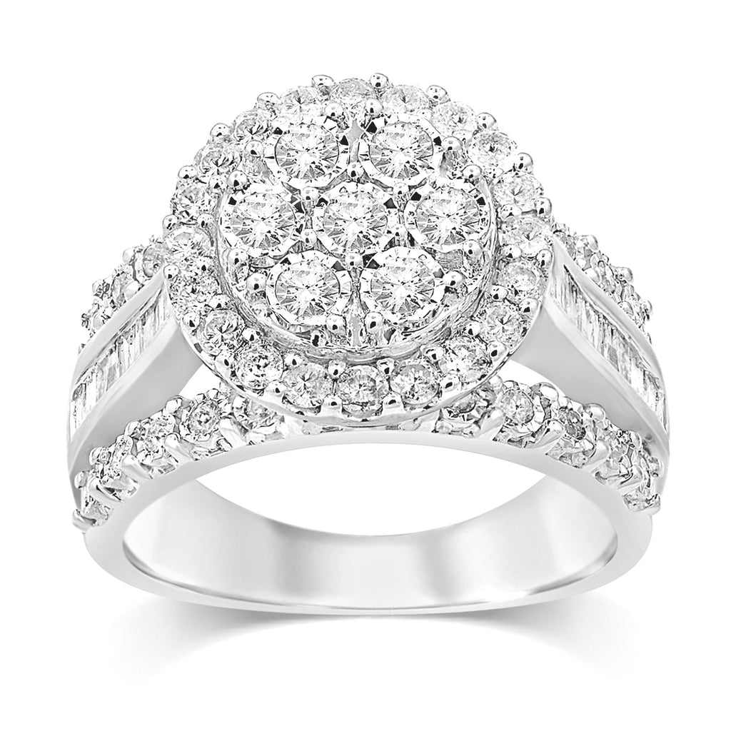 Sterling Silver Brilliant Miracle Round Ring with 1.00ct of Diamonds