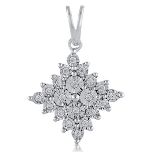 Sterling Silver Brilliant Claw 0.10ct Diamond Miracle Necklace
