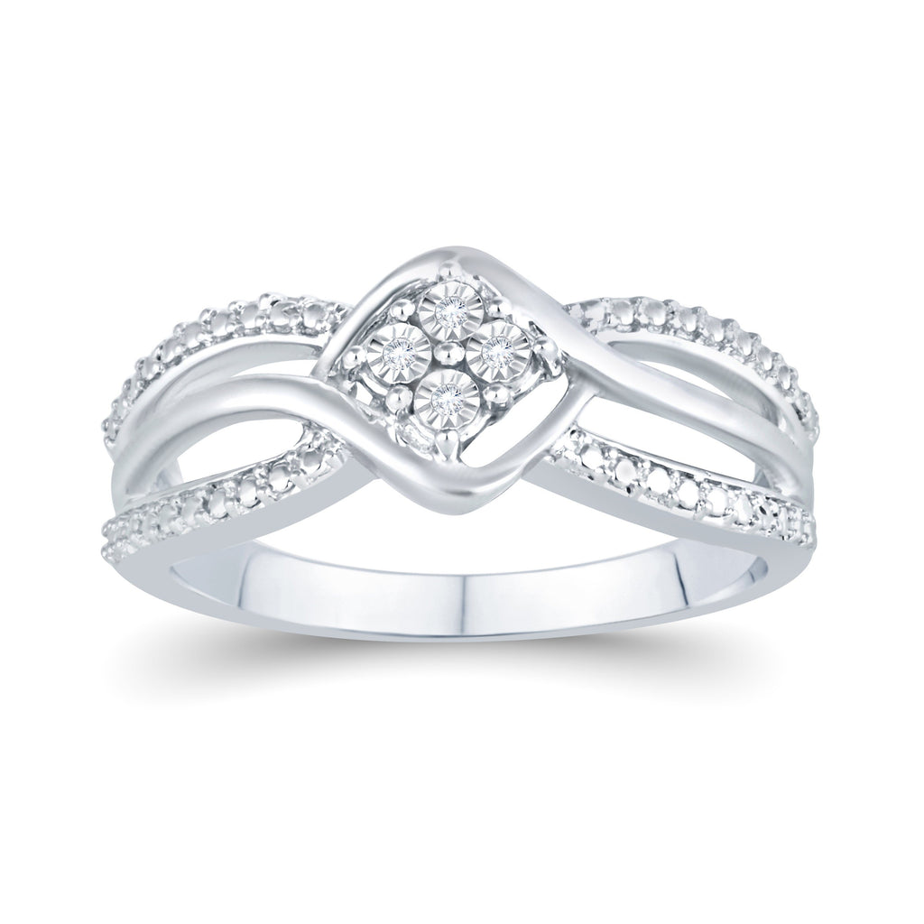 Diamond Fancy Ring in Sterling Silver Rings Bevilles